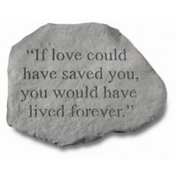 """If Love Could Have Saved You"" Memorial Stone"