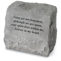 """Gone Yet Not Forgotten"" Headstone in Grey"