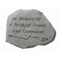 """In Memory Of"" Memorial Headstone with Leash"