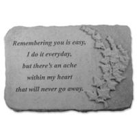 """""""Remembering You"""" Memorial Stone with Ivy"""