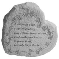 """A Heart of Gold"" Memorial Stone"