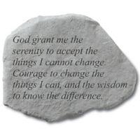 """""""Grant Me Serenity"""" Memorial Stone"""