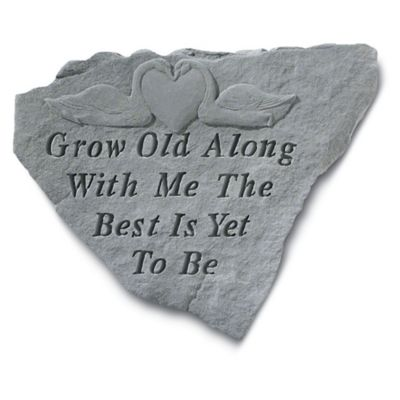Sympathy Stones For The Garden Buy memorial garden stones from bed bath beyond grow old with me memorial stone workwithnaturefo
