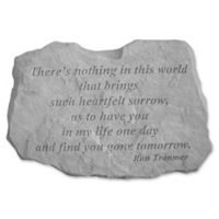 """There's Nothing In This World"" Memorial Stone in Grey"