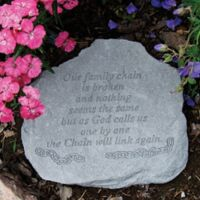 """""""Our Family Chain"""" Memorial Stone"""