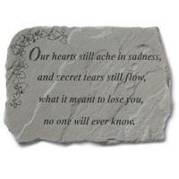 """""""Our Hearts Still Ache"""" Memorial Stone"""