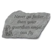 """Never Go Faster"" Garden Accent Stone"