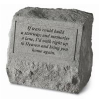 """If Tears Could Build"" with Urn Memorial Stone in Grey"