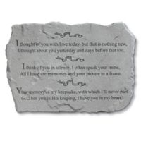 """""""I Thought of You With Love"""" Memorial Stone"""
