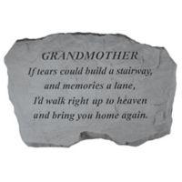 """Grandmother, If Tears"" Memorial Stone"