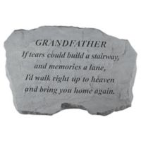 """""""Grandfather, If Tears"""" Memorial Stone"""