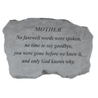 """Mother, No Farewell Words"" Memorial Stone"