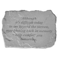 """""""Although It's Difficult"""" Memorial Stone in Grey"""