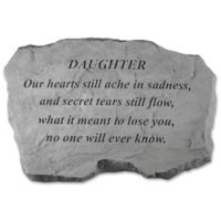 """Daughter Our Hearts"" Memorial Stone in Grey"