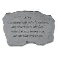 """Son Our Hearts"" Memorial Stone in Grey"