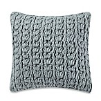 Kenneth Cole Mineral Yarn-Dyed Cable Knit Square Throw Pillow in Seaglass