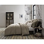 Kenneth Cole Mineral Yarn-Dyed King Duvet Cover in Stone