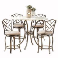 Hillsdale Furniture Brookside 5-Piece Counter Height Dining Set With Hanover Stools in Brown