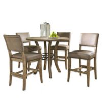 Hillsdale 5-Piece Charleston Counter Height Dining Set with Padded High-Back Stools
