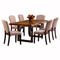 Hillsdale Emerson 7-Piece Rectangle Dining Set in Natural