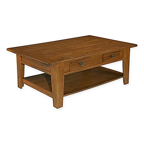 Broyhill Attic Heirlooms Cocktail Table In Oak Bed Bath