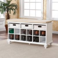 Southern Enterprises Chelmsford Entryway Shoe Bench in White