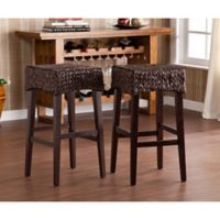 Southern Enterprises Water Hyacinth Counter Stools (Set of 2)