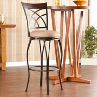 Southern Enterprises Ashborne Swivel Barstool in Champagne