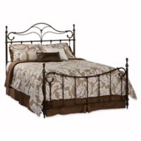 Hillsdale Bennett King Bed Set with Rails in Brown