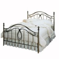 Hillsdale Milano King Bed Set with Rails in Antique Pewter