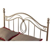 Hillsdale Milano King Headboard with Rails in Pewter