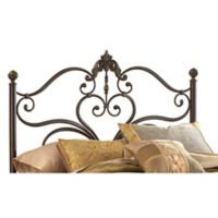 Hillsdale Newton King Headboard with Rails in Antique Brown