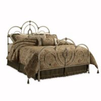 Hillsdale Victoria King Bed Set with Rails in Antique White