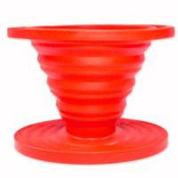 SlickDrip Collapsible Silicone Coffee Dripper in Red
