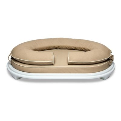 lucky collection small pet bed in mushroom with white wood frame
