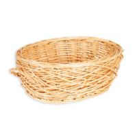 Household Essentials® Spring Bird Nest Willow Oval Wicker Basket in Brown