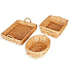 Household Essentials® 3-Piece Spring Bird Nest Willow Wicker Basket Set in Brown