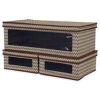 Household Essentials® 3-Piece Vision Lidded Storage Box Set in Brown