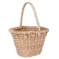 Household Essentials Large Wicker Basket Tote with Long Handle
