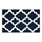 Adelaide Fret Design 20-Inch x 33-Inch Bath Mat in Navy/White