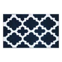 Adelaide Ombré Striped 20-Inch x 33-Inch Bath Mat in Navy/White