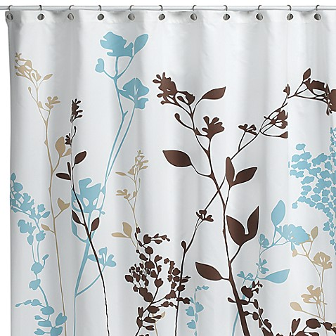 reflections fabric shower curtain in floral bed bath beyond. Black Bedroom Furniture Sets. Home Design Ideas