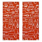Park B. Smith® Utensils Kitchen Towels in Watermelon (Set of 2)