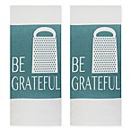 Park B. Smith®  Be Grateful  Kitchen Towels in Aegean (Set of 2)