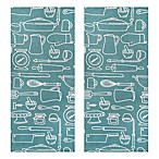 Park B. Smith® Utensils Kitchen Towel in Aegean (Set of 2)