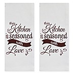 Park B. Smith®  Seasoned With Love  Kitchen Towels in White/Red (Set of 2)