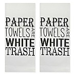 "Park B. Smith® ""Paper Towels"" Kitchen Towel in Black/White (Set of 2)"