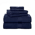 Martex® 6-Piece Ringspun Cotton Towel Set in Midnight
