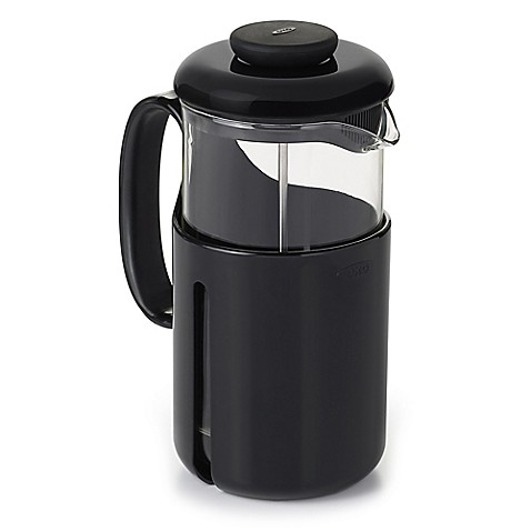 OXO Good Grips? Venture 8-Cup French Press Coffee Maker in Black/Clear - Bed Bath & Beyond
