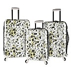 Kensie 3-Piece Flower Hardside Spinner Set